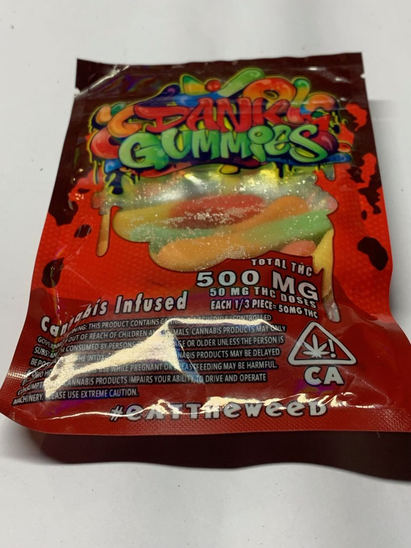 3rd Party Dank Gummies- Cannabis Infused- Sour Neon Worms Edibles Gummies