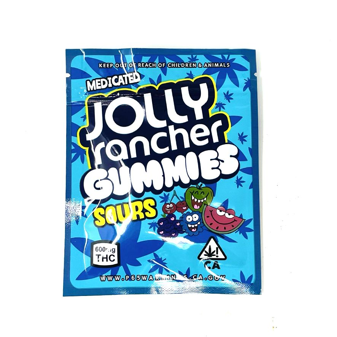 Jolly Ranchers Gummies - Sour 600MG Edibles Gummies