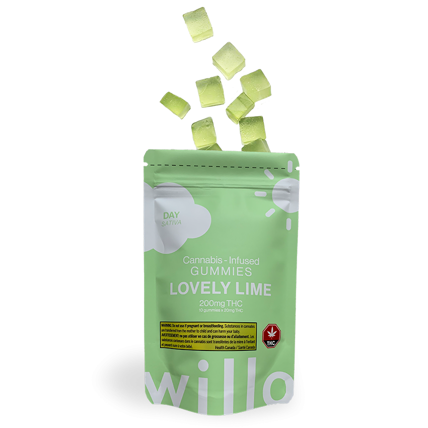 Willo 200mg THC Lovely Lime (Day) Gummies Edibles Gummies
