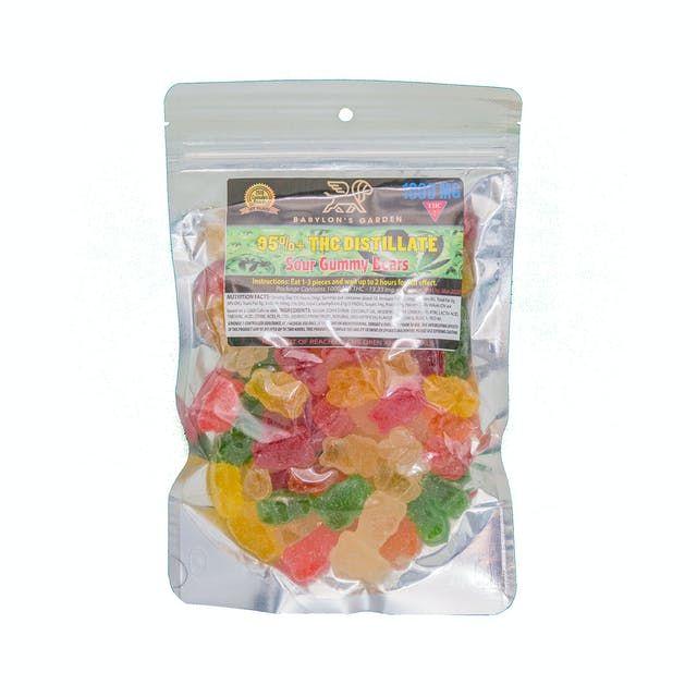 Babylon's Garden Sour Gummy Bears 1000mg Edibles Gummies