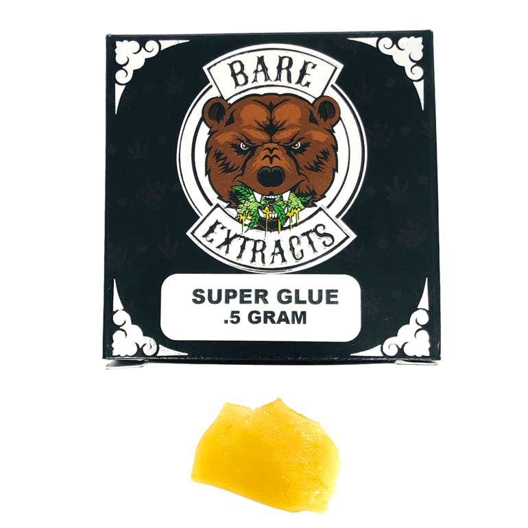 BAREWOODS Bare Extracts - Super Glue Live Resin Shatter Concentrates Shatter