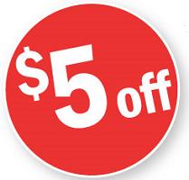 Reward $5 off